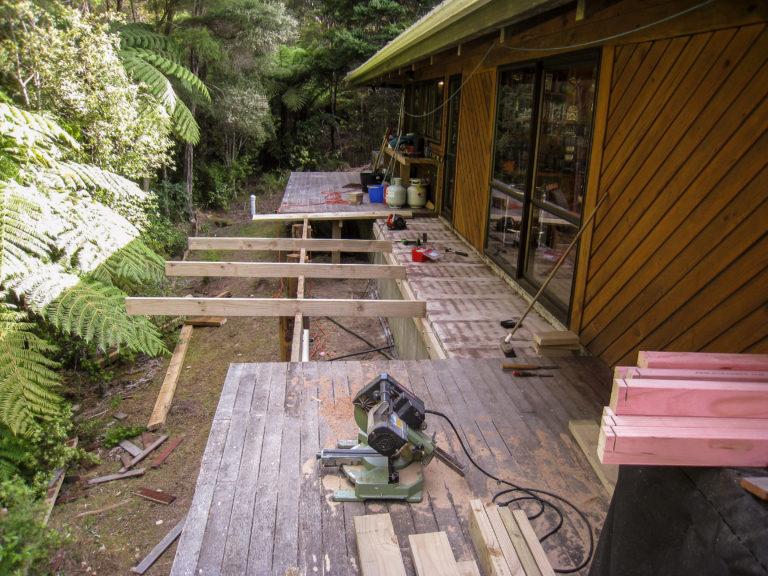 nach erfolgreicher Baustelleneinrichtung beginnen wir den Fußboden anzufertigen
