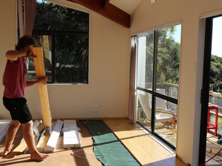 Holzfußboden im zu Hause